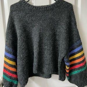 VICI striped sleeve sweater